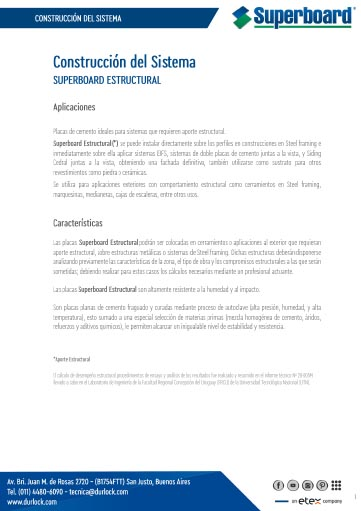 Construcción del Sistema Superboard Estructural